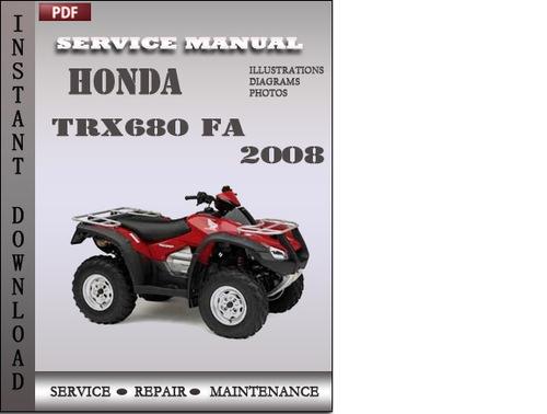 Free Honda TRX680 FA 2008 Service Repair Manual Download Download thumbnail