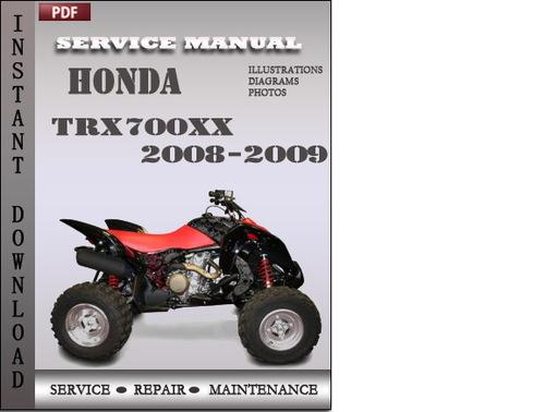Pay for Honda TRX700xx 2008-2009 Service Repair Manual Download