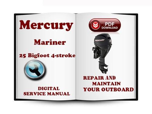 mercury mariner outboard 25 bigfoot hp 4 stroke 1998 service repair rh tradebit com 25 HP Mariner Outboard Service 25 HP Mariner Outboard Service