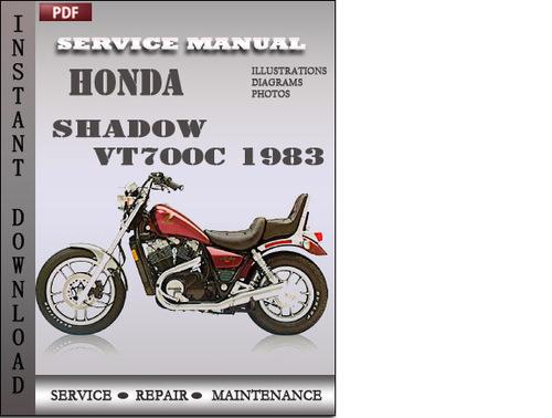 honda shadow vt700c 1983 service repair manual download. Black Bedroom Furniture Sets. Home Design Ideas