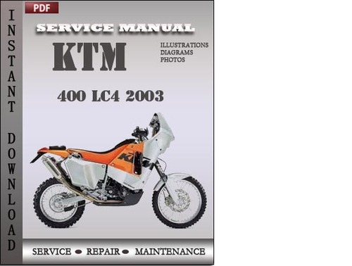 Ktm 400 Lc4 2003 Service Repair Manual Download