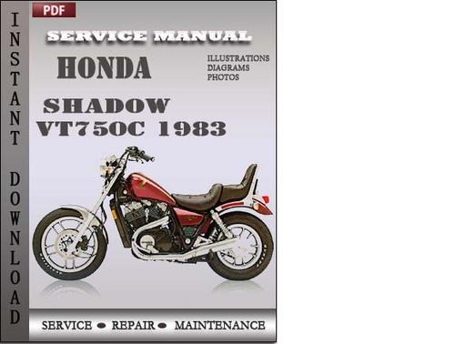 Honda Shadow Vt750c 1983 Service Repair Manual Download