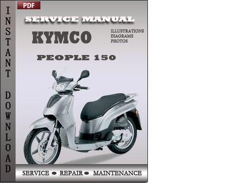 kymco people 125 150 service repair manual download