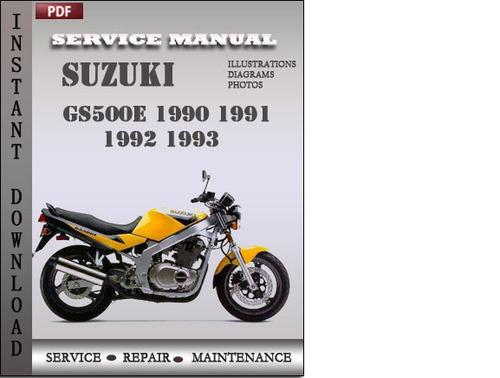 suzuki gs500e 1991 service repair manual download download manual rh tradebit com Suzuki Service Manual PDF Suzuki DR650 Service Manual