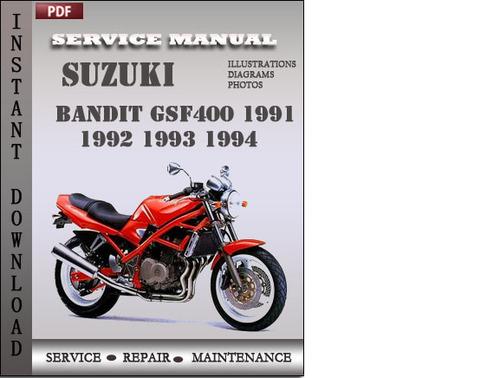Pay for Suzuki Bandit GSF400 1994 Service Repair Manual Download