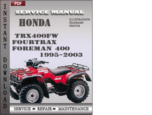 honda foreman service manual pdf