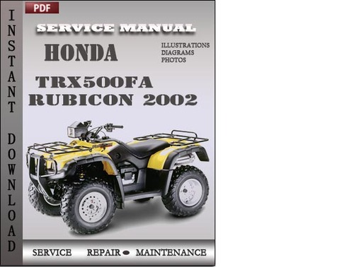 honda ft 500 service manual pdf