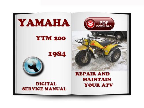 yamaha ytm 200 1984 service repair manual download tradebit. Black Bedroom Furniture Sets. Home Design Ideas