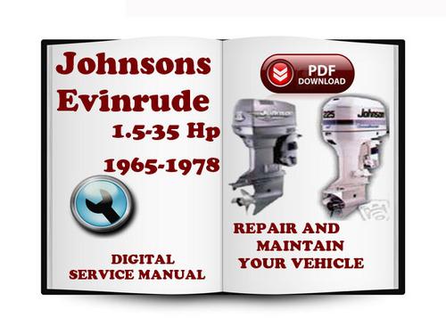 johnson evinrude 1 5 35 hp 1965 1978 service repair manual. Black Bedroom Furniture Sets. Home Design Ideas