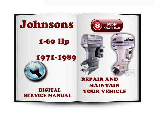 johnson outboard 1 to 60 hp 1971 1989 service repair. Black Bedroom Furniture Sets. Home Design Ideas