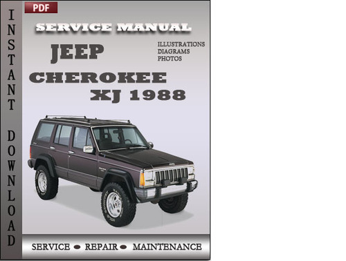 jeep cherokee xj 1988 service repair manual download manuals rh tradebit com 1998 Jeep Cherokee Interior 1987 Jeep Cherokee