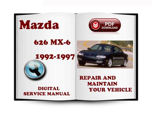 service manual old car manuals online 1997 mazda mx 6. Black Bedroom Furniture Sets. Home Design Ideas