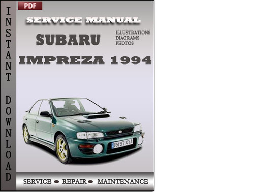 Free Subaru Impreza 2001 Service Manual Download  U2013 Best