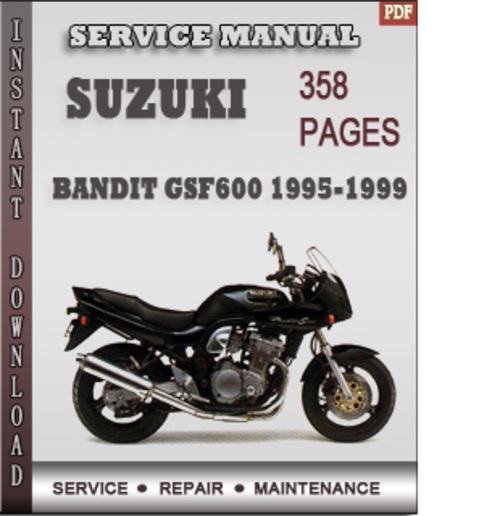 suzuki bandit gsf600 1995 1999 factory service repair. Black Bedroom Furniture Sets. Home Design Ideas