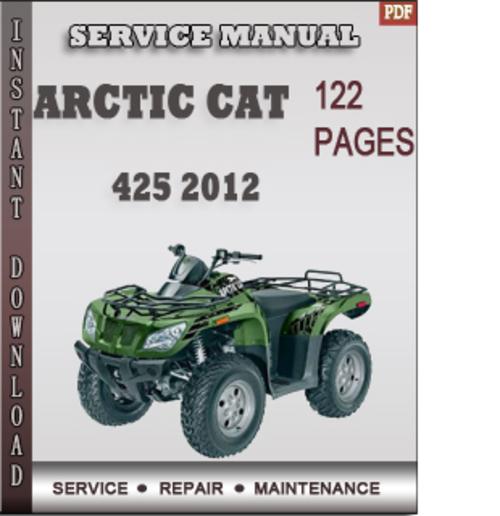 2012 arctic cat service manual