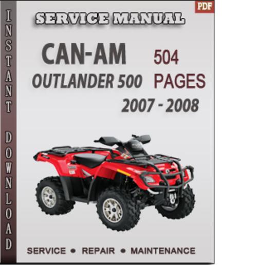 can am outlander service manual pdf