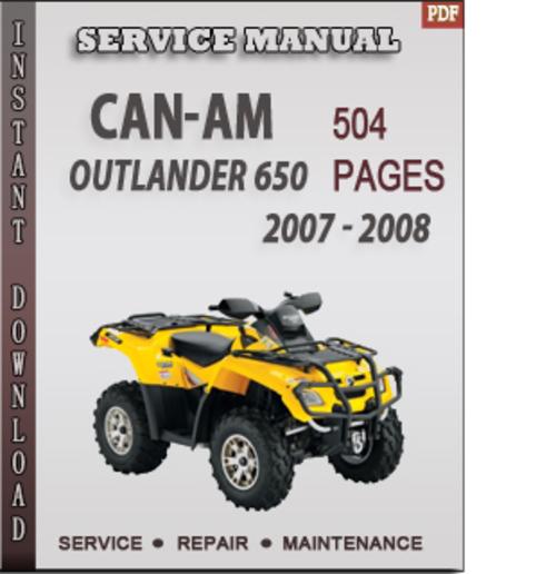 2007-2008 can-am outlander 500 650 800 / renegade 500 800 atv.