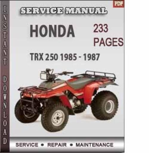 honda trx 250 1985 1987 factory service repair manual honda trx350 manual shift 1985 honda trx 250 manual pdf