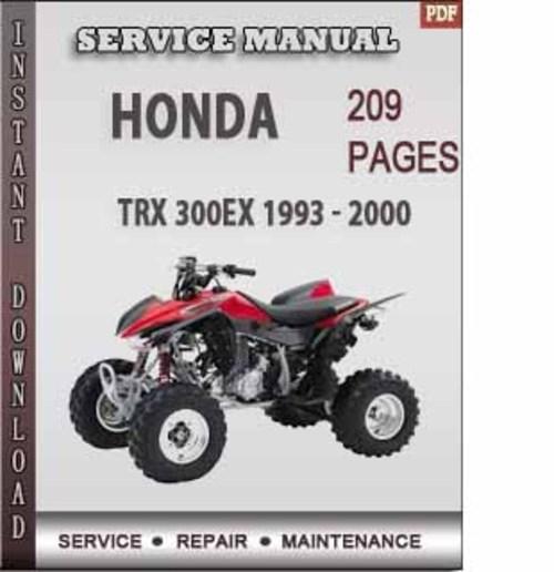 honda trx 300ex 1993 2000 factory service repair manual. Black Bedroom Furniture Sets. Home Design Ideas