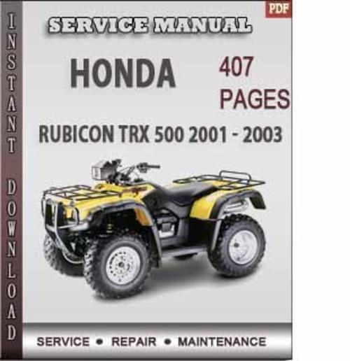 Honda rubicon Service manual download