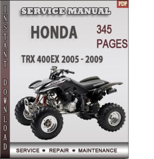 honda trx 400ex 2005 2009 factory service repair manual. Black Bedroom Furniture Sets. Home Design Ideas