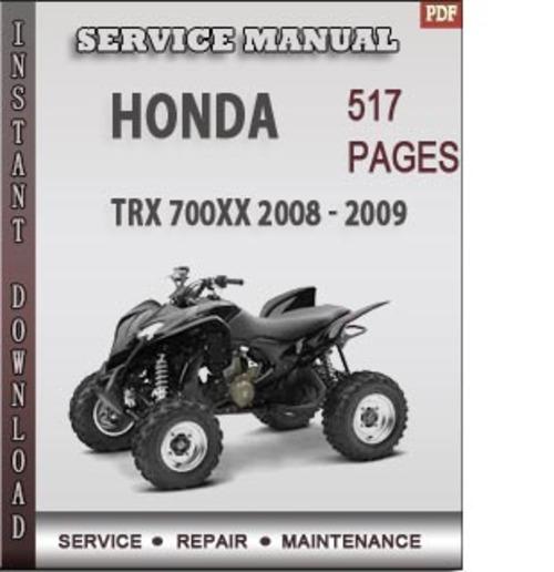 Honda Trx 700xx 2008 2009 Factory Service Repair Manual border=
