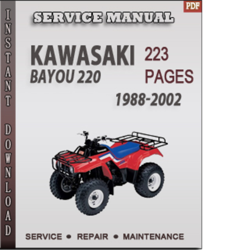 kawasaki bayou 220 1988 2002 factory service repair manual downloa rh tradebit com kawasaki bayou 220 manual pdf free kawasaki bayou 220 manual free