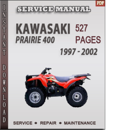 kawasaki prairie 400 repair manual free owners manual u2022 rh wordworksbysea com Kawasaki 400 Bayou Manual 2001 Kawasaki 400 Prairie Manual