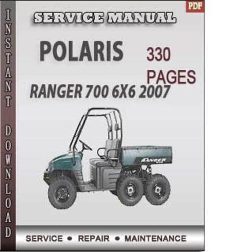 polaris ranger 700 6x6 2007 factory service repair manual. Black Bedroom Furniture Sets. Home Design Ideas