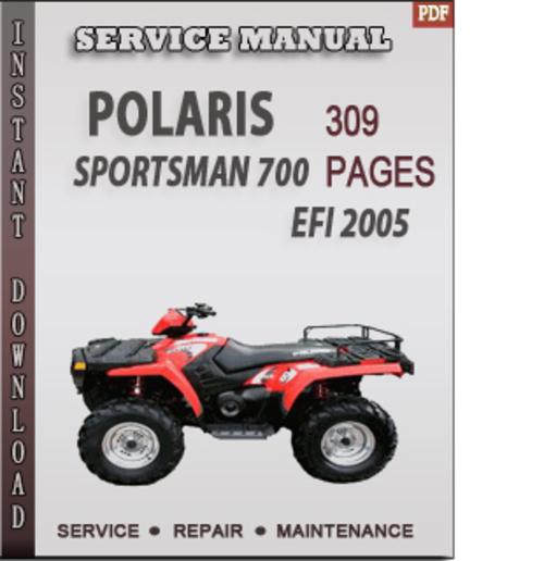 polaris sportsman 700 efi 2005 factory service repair. Black Bedroom Furniture Sets. Home Design Ideas