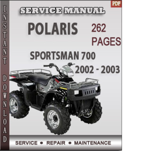 polaris sportsman 700 2002 2003 factory service repair. Black Bedroom Furniture Sets. Home Design Ideas
