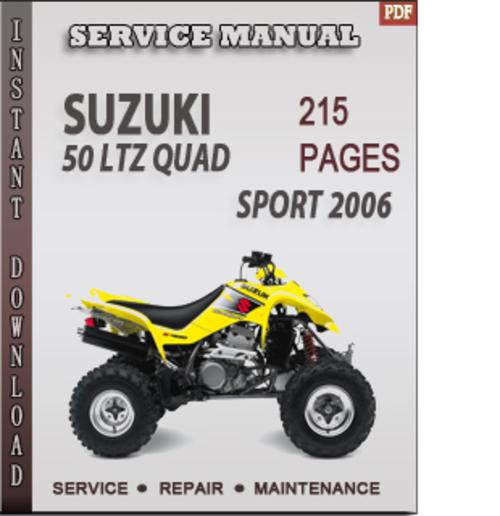 Free Suzuki 50 LTZ Quad Sport 2006 Factory Service Repair Manual Download Download thumbnail