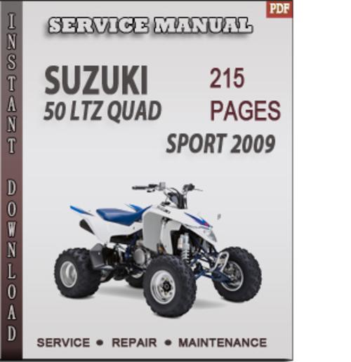 Free Suzuki 50 LTZ Quad Sport 2009 Factory Service Repair Manual Download Download thumbnail