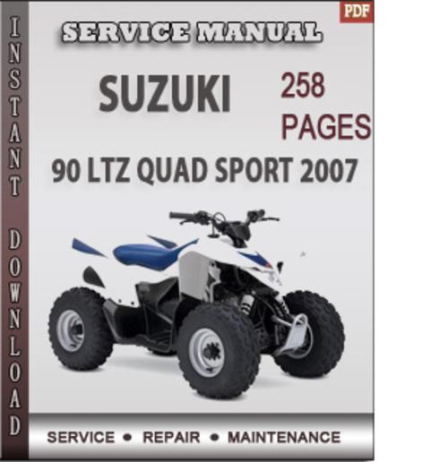 Free Suzuki 90 LTZ Quad Sport 2007 Factory Service Repair Manual Download Download thumbnail
