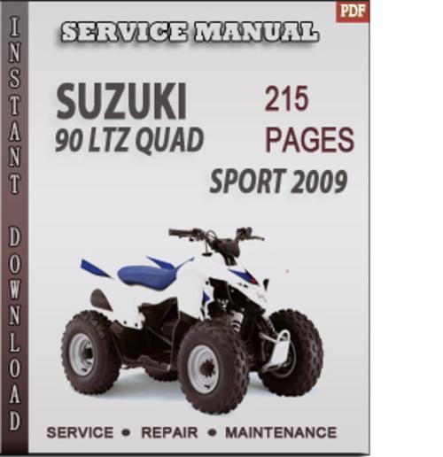 Free Suzuki 90 LTZ Quad Sport 2009 Factory Service Repair Manual Download Download thumbnail
