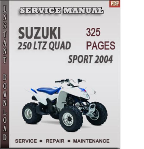 Free Suzuki 250 LTZ Quad Sport 2004 Factory Service Repair Manual Download Download thumbnail