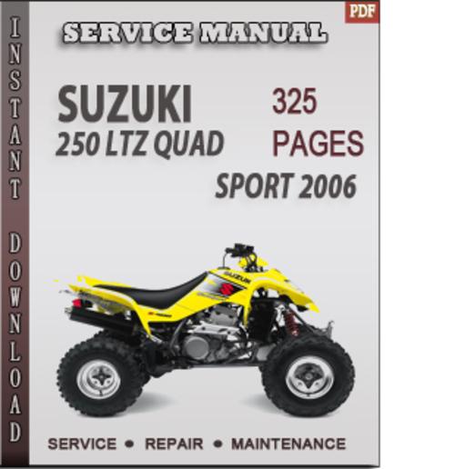 Free Suzuki 250 LTZ Quad Sport 2006 Factory Service Repair Manual Download Download thumbnail