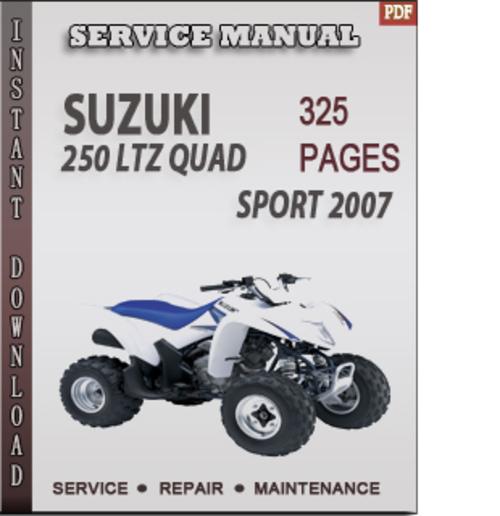 Free Suzuki 250 LTZ Quad Sport 2007 Factory Service Repair Manual Download Download thumbnail
