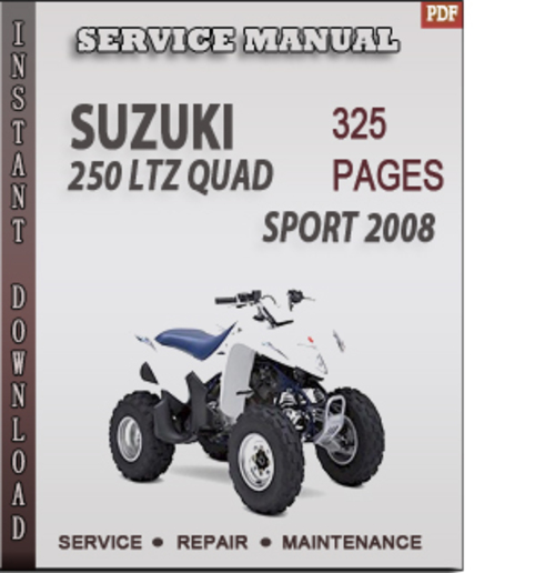 Suzuki ltz 250 2004 2009 repair service manua by willardthao issuu.