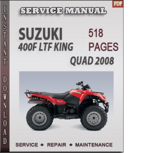 suzuki king quad service manual