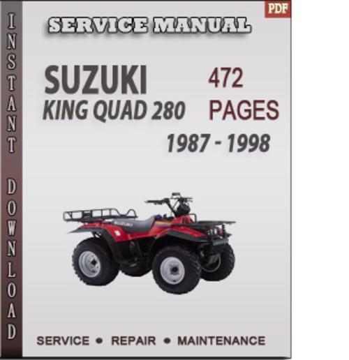suzuki king quad 280 1987 1998 factory service repair manual down rh tradebit com suzuki king quad 750 service manual free 2008 suzuki king quad 750 repair manual