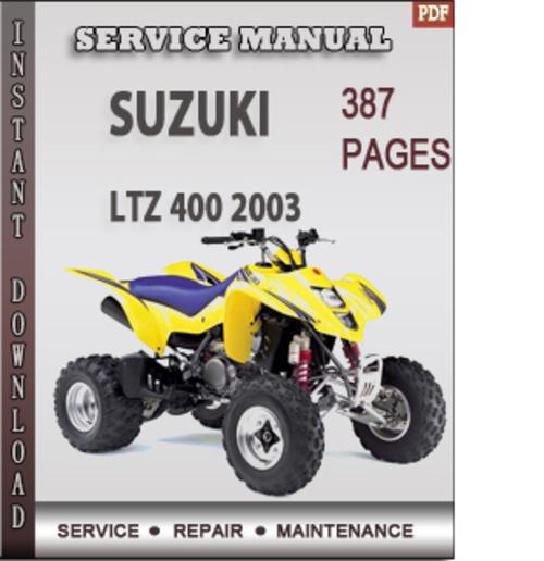 suzuki ltz 400 2003 factory service repair manual download downlo rh tradebit com suzuki ltz 400 manual cz suzuki ltz 400 user manual