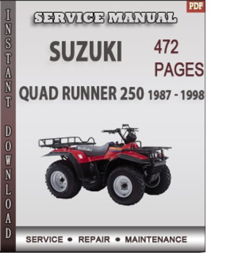 suzuki quad runner 250 1987 1998 factory service repair manual do rh tradebit com