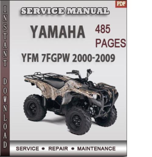 yamaha yfm 7fgpw 2000 2009 factory service repair manual. Black Bedroom Furniture Sets. Home Design Ideas