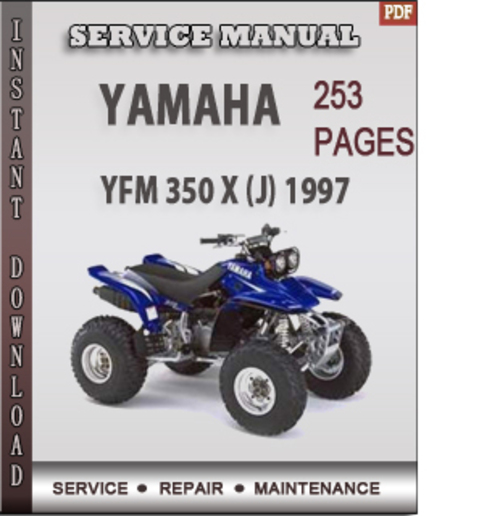 yamaha yfm 350 x j 1997 factory service repair manual. Black Bedroom Furniture Sets. Home Design Ideas