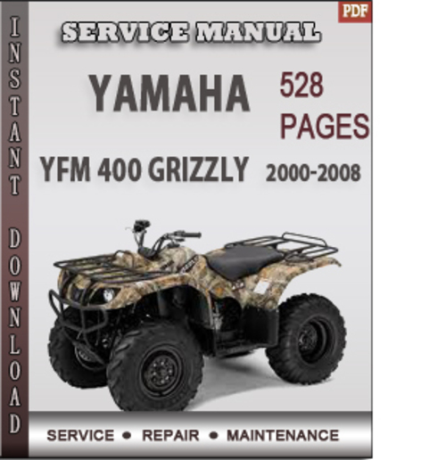 yamaha yfm 400 grizzly 2000 2008 factory service repair. Black Bedroom Furniture Sets. Home Design Ideas