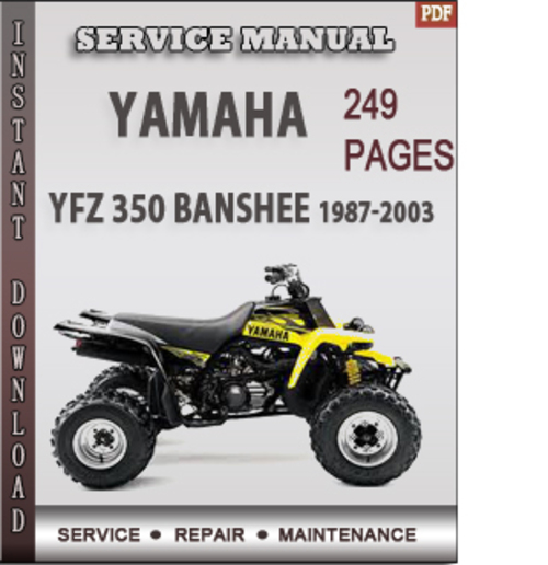 yamaha yfz 350 banshee 1987 2003 factory service repair. Black Bedroom Furniture Sets. Home Design Ideas