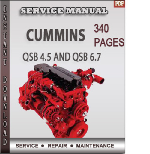Free Cummins QSB 4.5 and QSB 6.7 Engine Operation and Maintenance Factory Service Repair Manual Download Download thumbnail