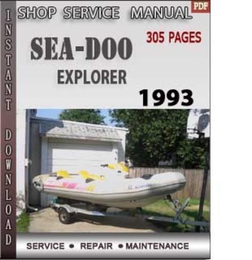 seadoo explorer 1993 shop service repair manual download download rh tradebit com sea doo explorer manual