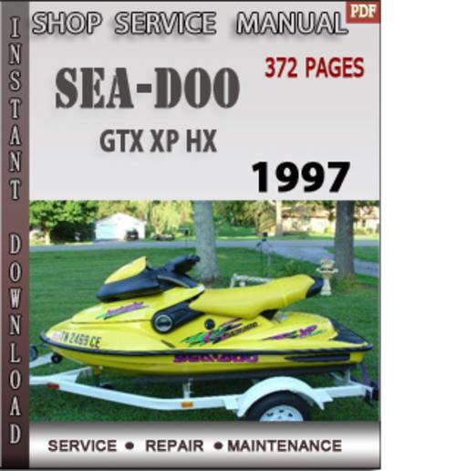 seadoo gtx xp hx 1997 shop service repair manual download downloa rh tradebit com 1997 seadoo spx parts manual 1996 Seadoo SPX